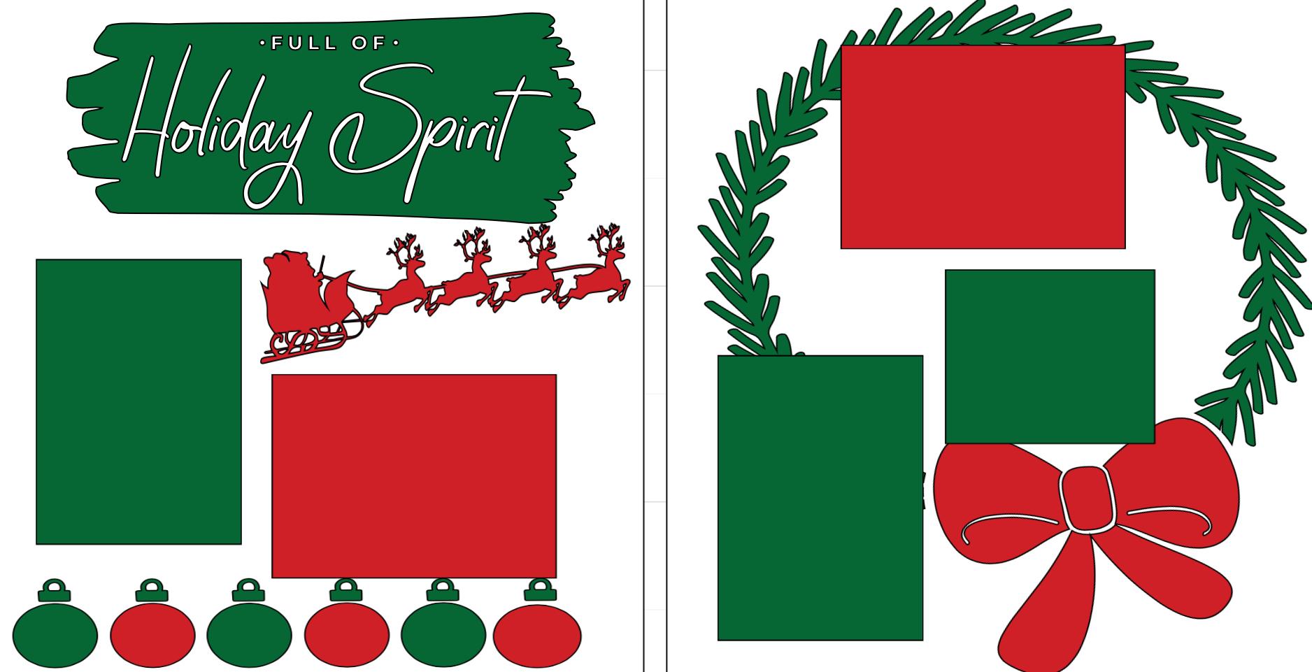 Christmas Holiday Spirit -  page kit