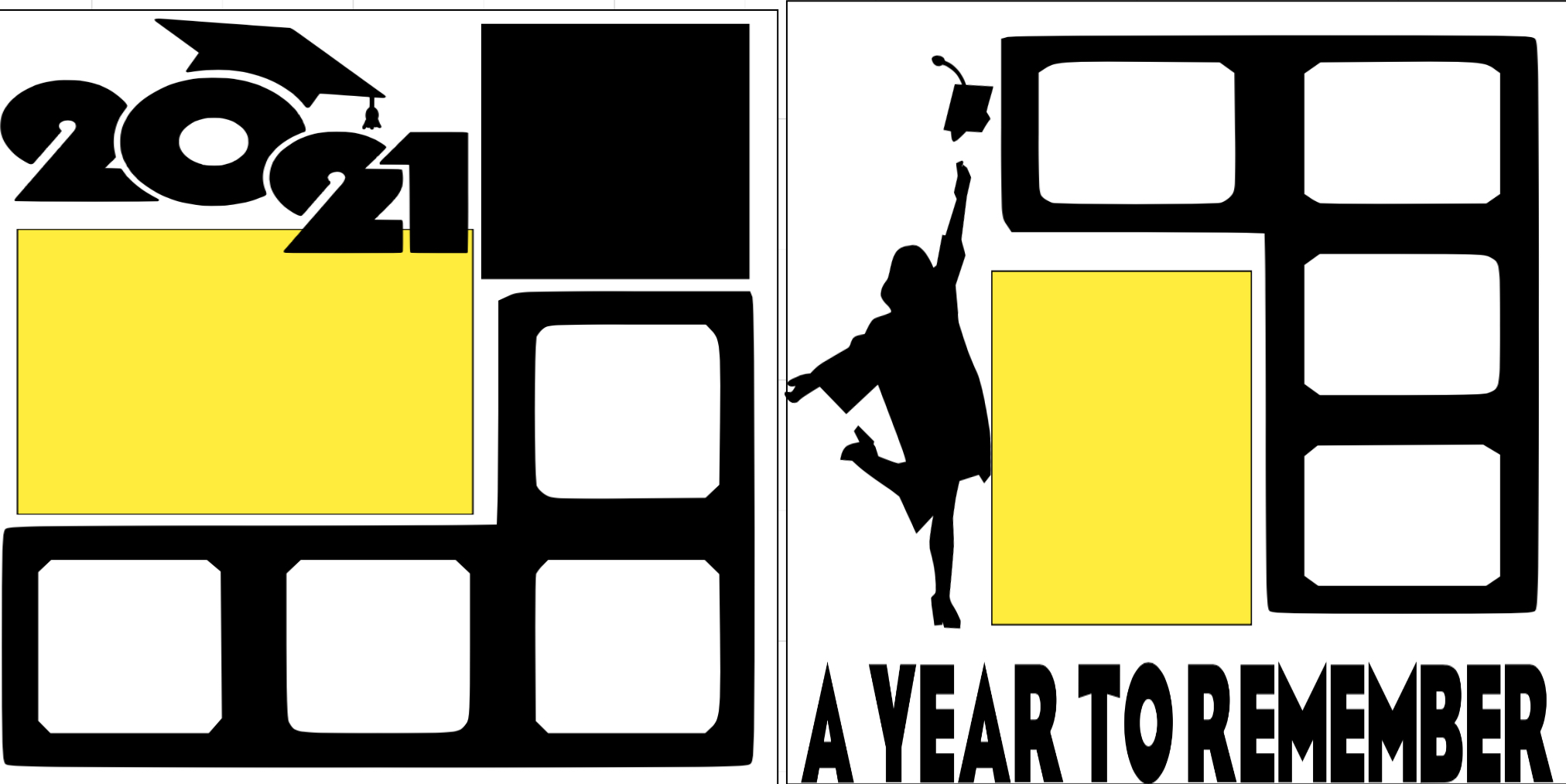Graduate 2020 A Year to Remember boy  page kit