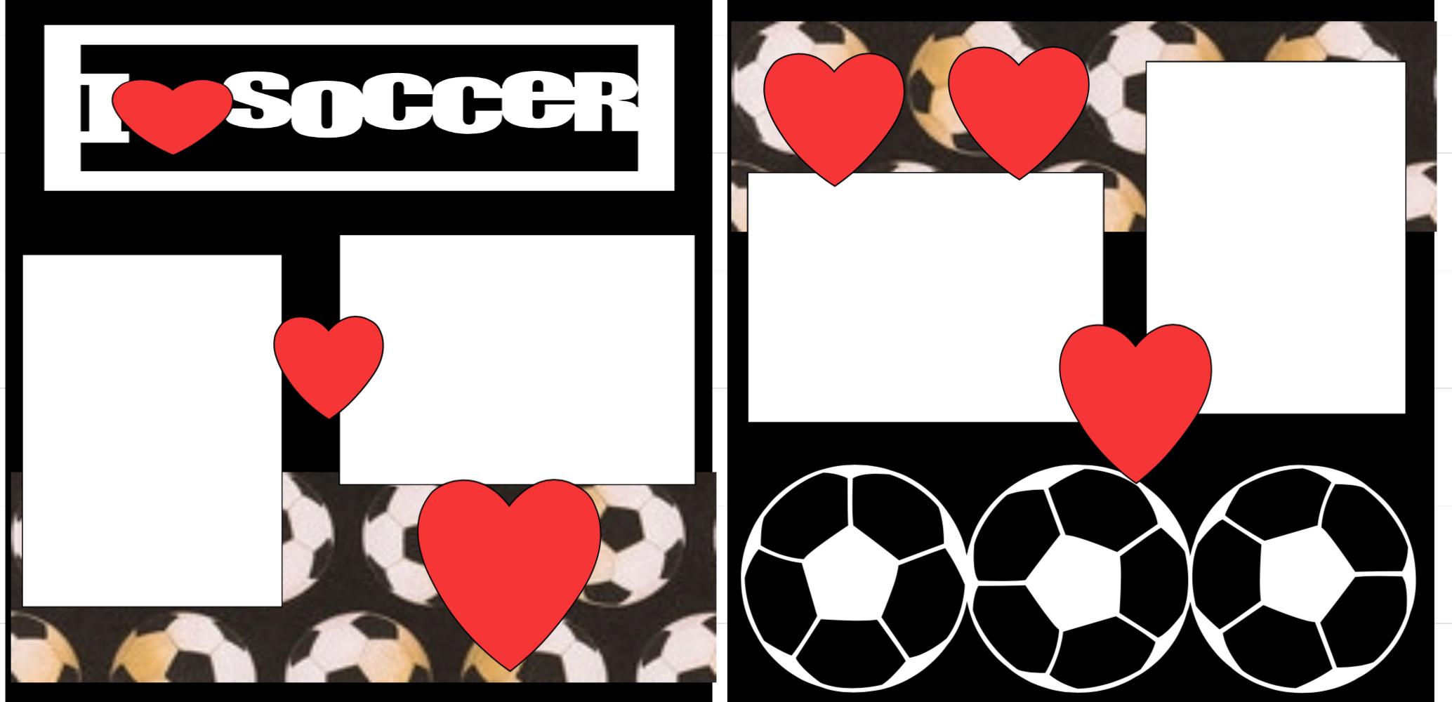 I Love Soccer  Page Kit