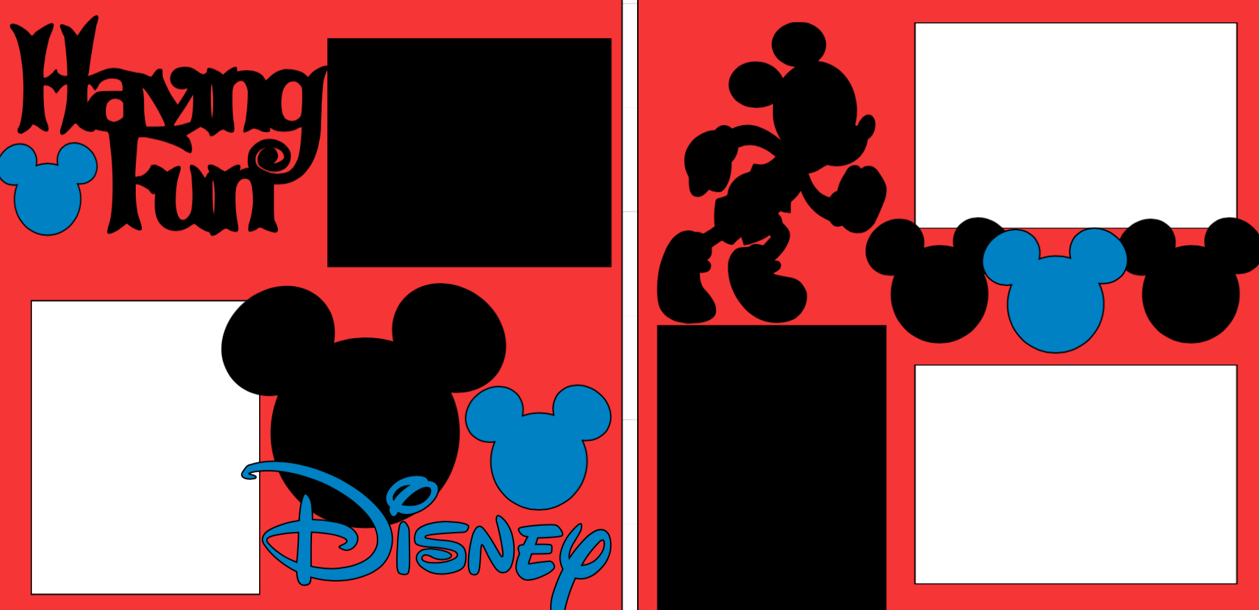 Disney Having Fun -  page kit