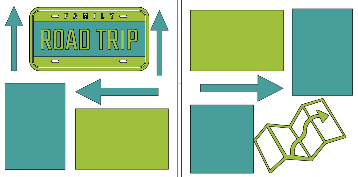 Family Road Trip-  page kit