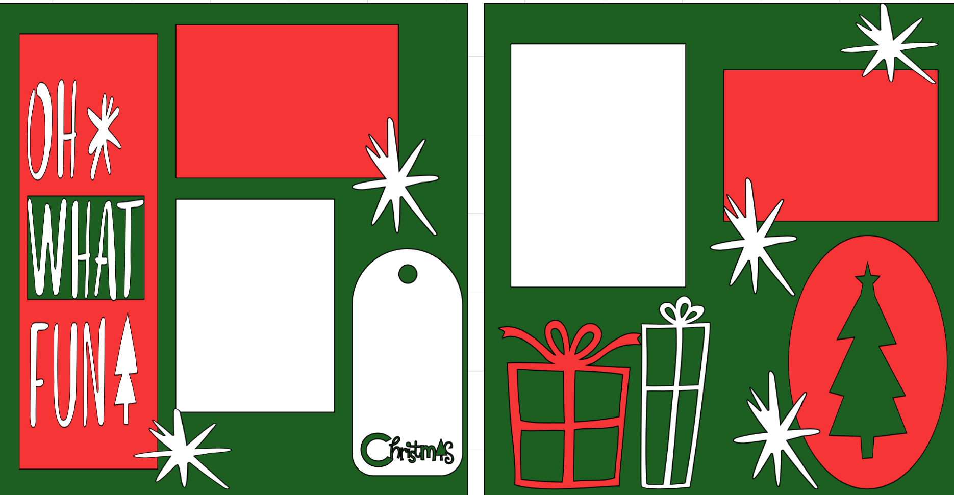 Christmas Oh what Fun-  page kit