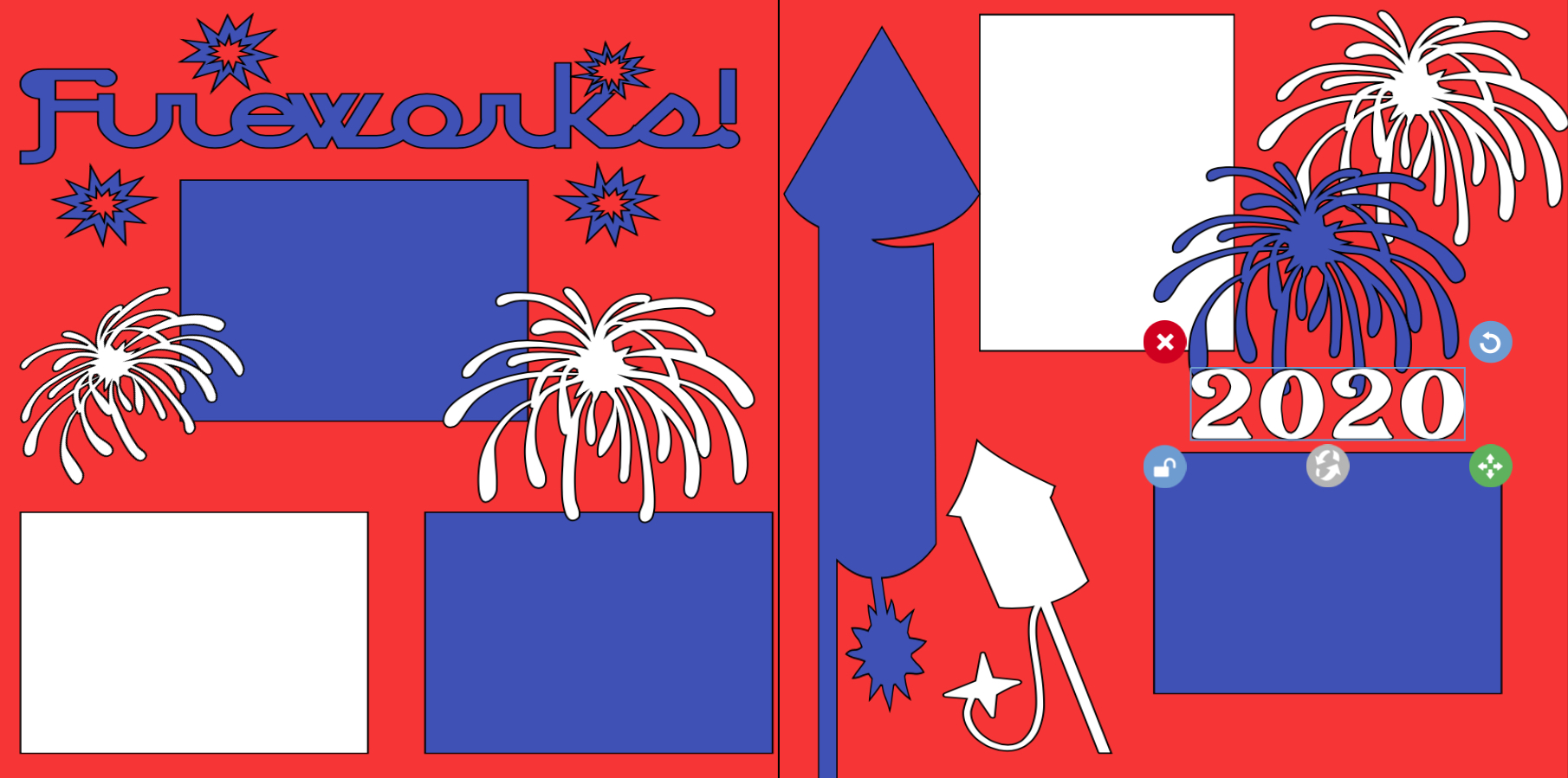 Fireworks 2020-  page kit