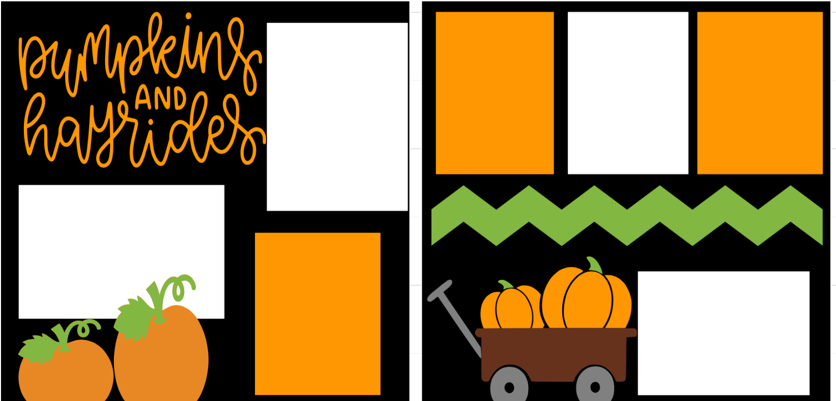 Pumpkins and Hayrides-  page kit
