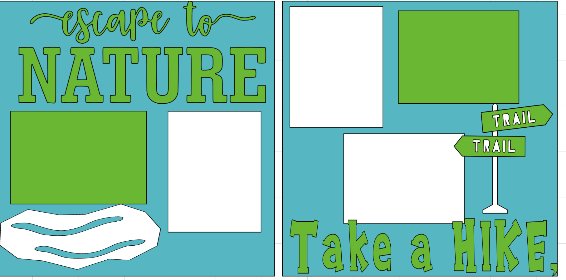 Escape to nature hiking   page kit
