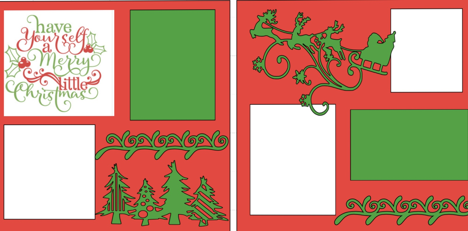 Have yourself a Merry little Christmas -page kit