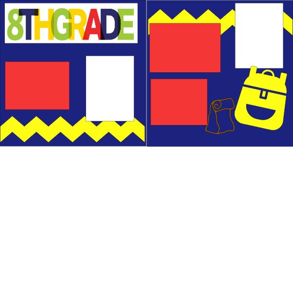 8TH GRADE SCHOOL   --   page kit