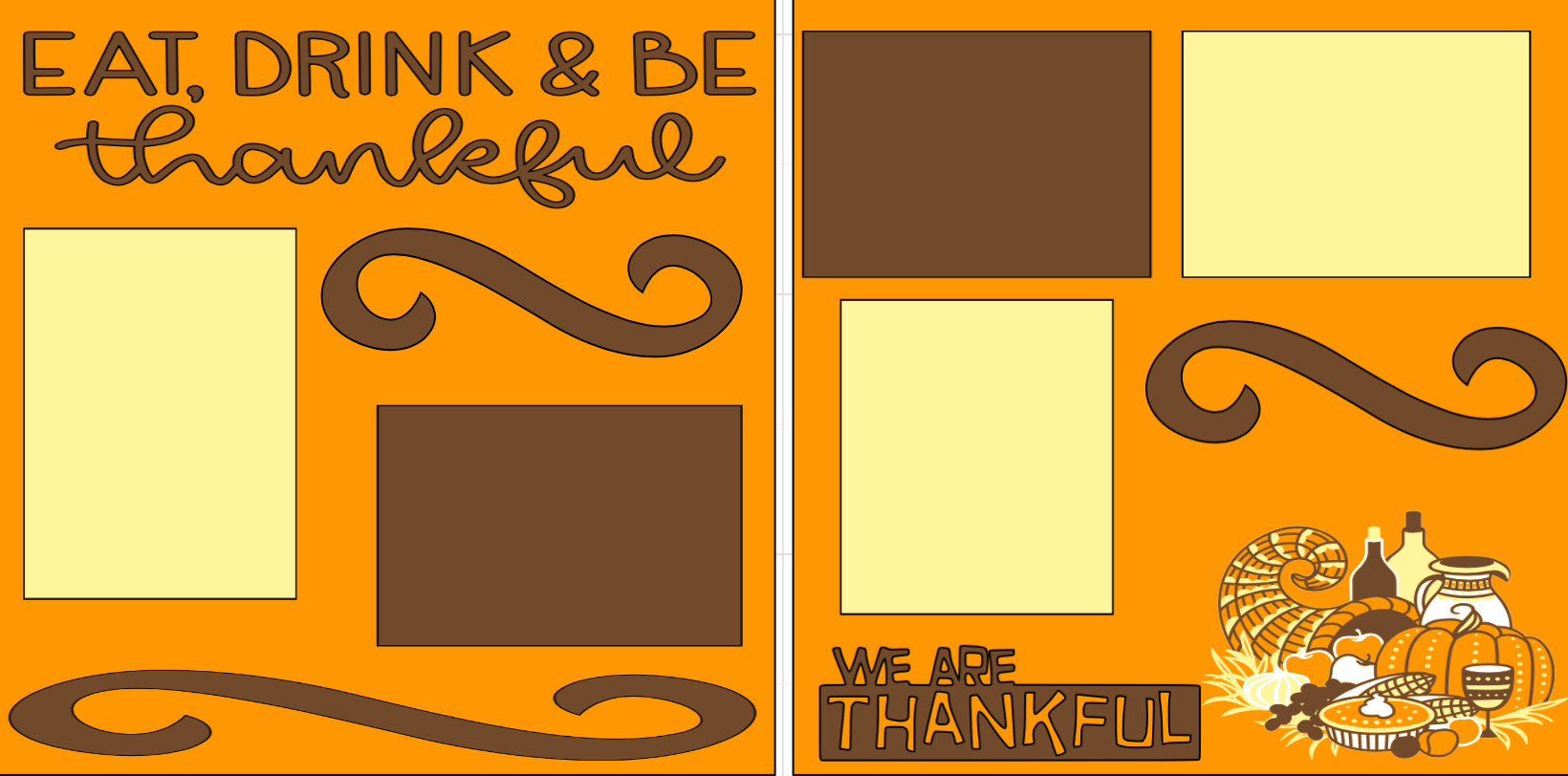 Thanksgiving- Eat Drink and be Thankful -  page kit