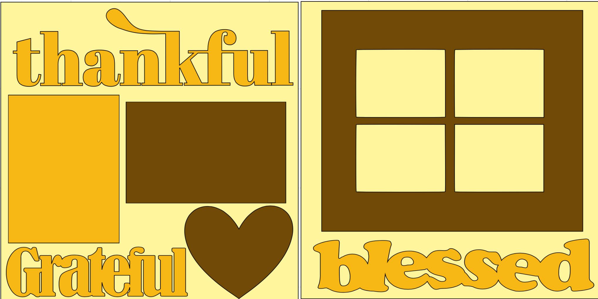 Thankful-grateful- page kit