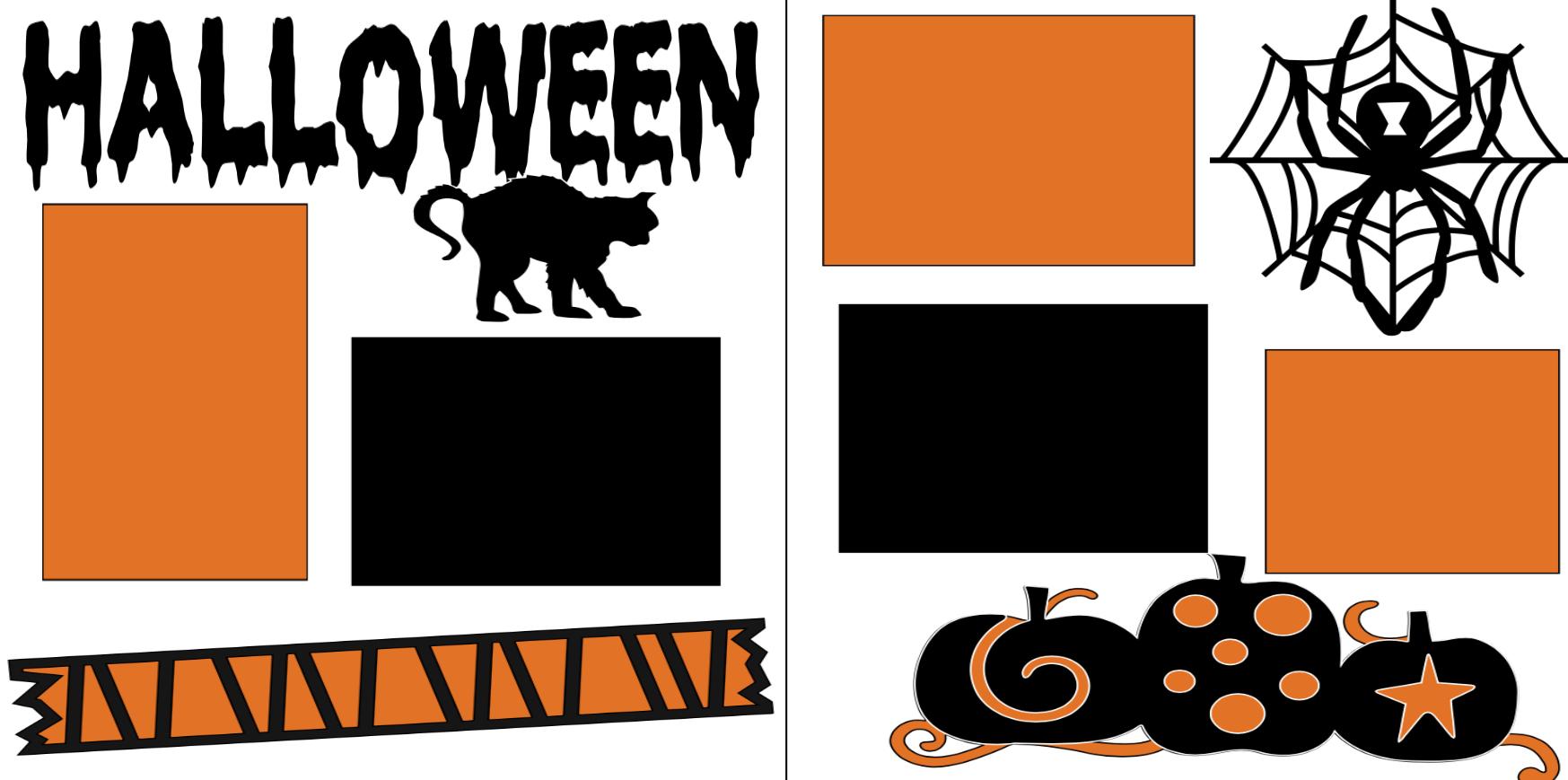 Halloween-  page kit