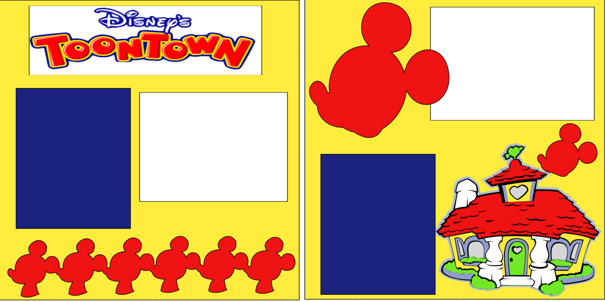 Disney Toontown-  page kit