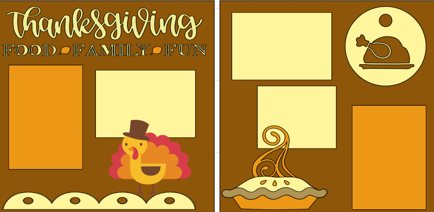 Thanksgiving Food Family and fun -  page kit