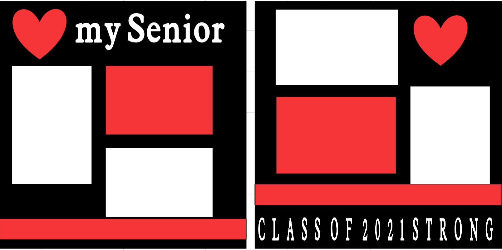 I love my Senior 2021--  page kit