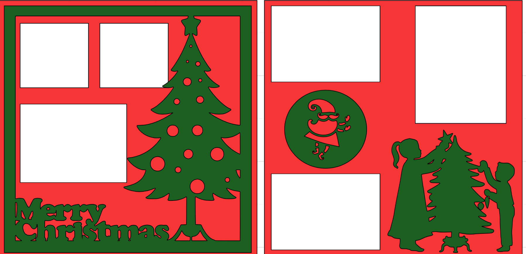 Merry Christmas overlay set-  page kit