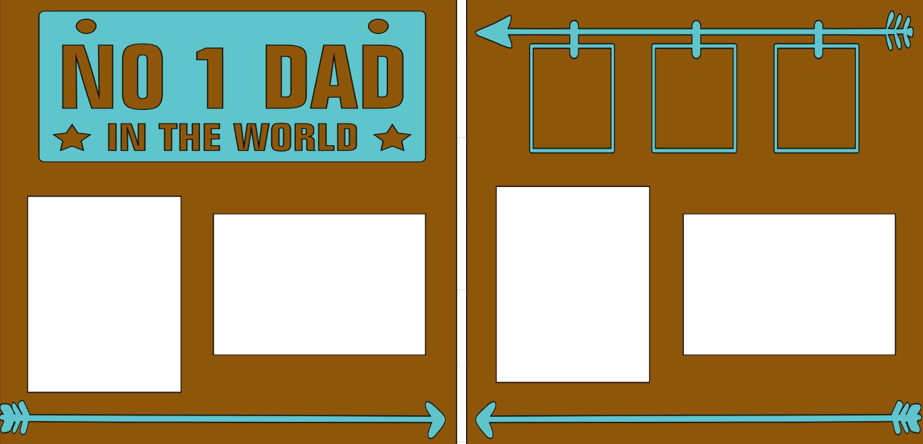 Number 1 Dad  -  page kit