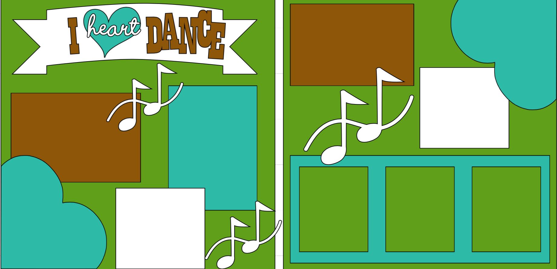 I love Dance **-  page kit