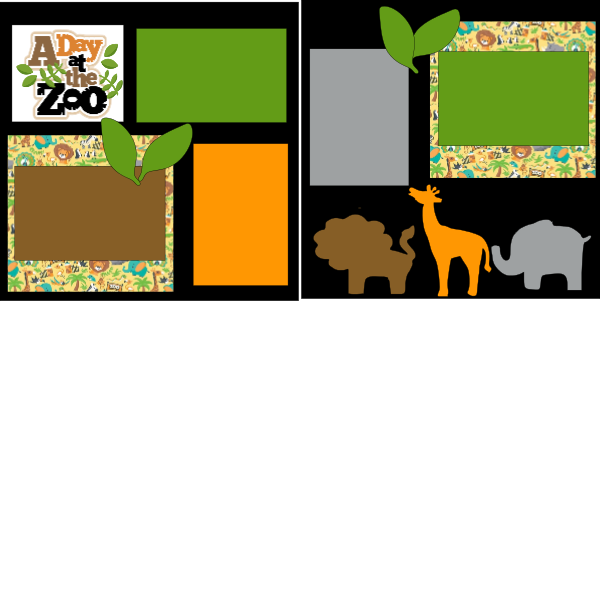 A DAY AT THE ZOO  ... Page Kit