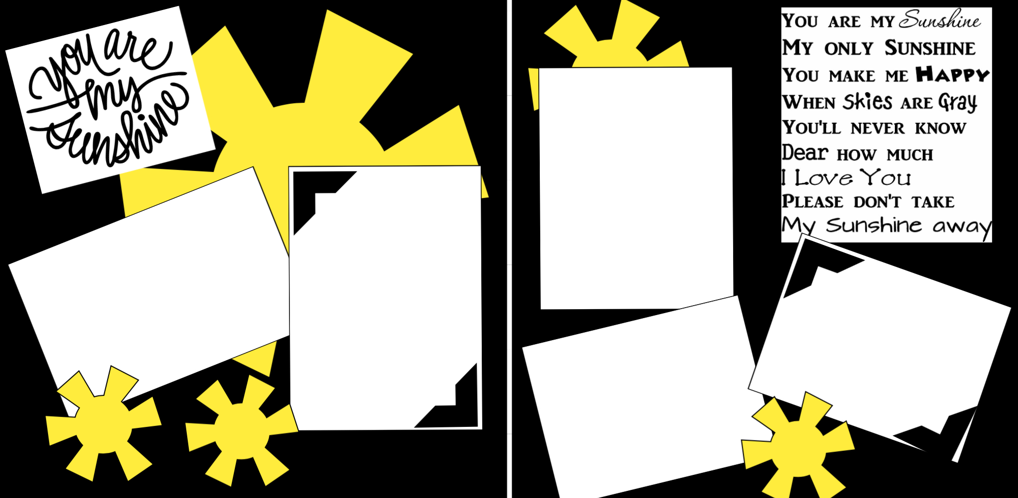 You are My Sunshine Page Kit