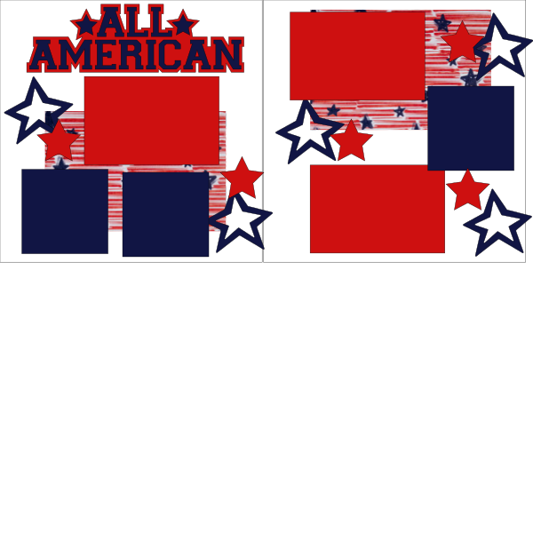 ALL AMERICAN ^^  -basic page kit
