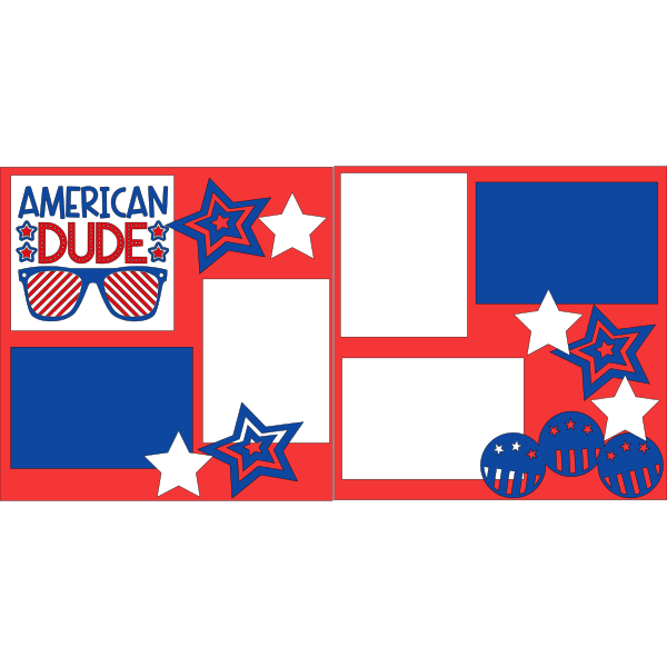 ALL AMERICAN DUDE  -basic page kit