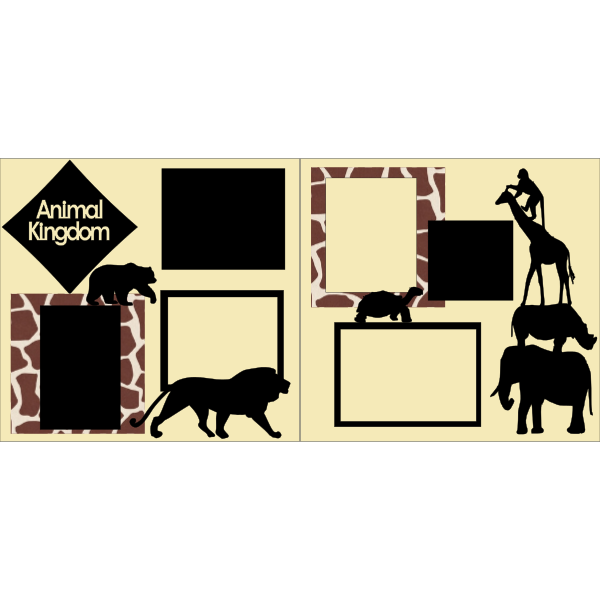 ANIMAL KINGDOM -DISNEY -basic page kit