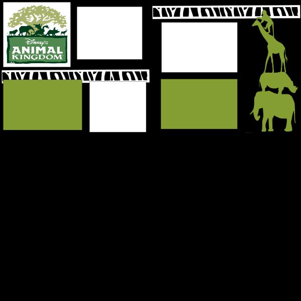 DISNEYS ANIMAL KINGDOM -basic page kit