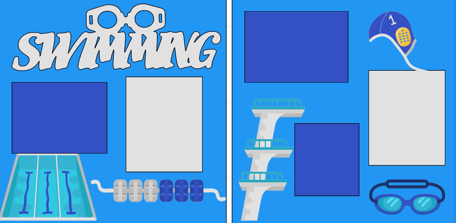Swimming- Swim Team-  page kit