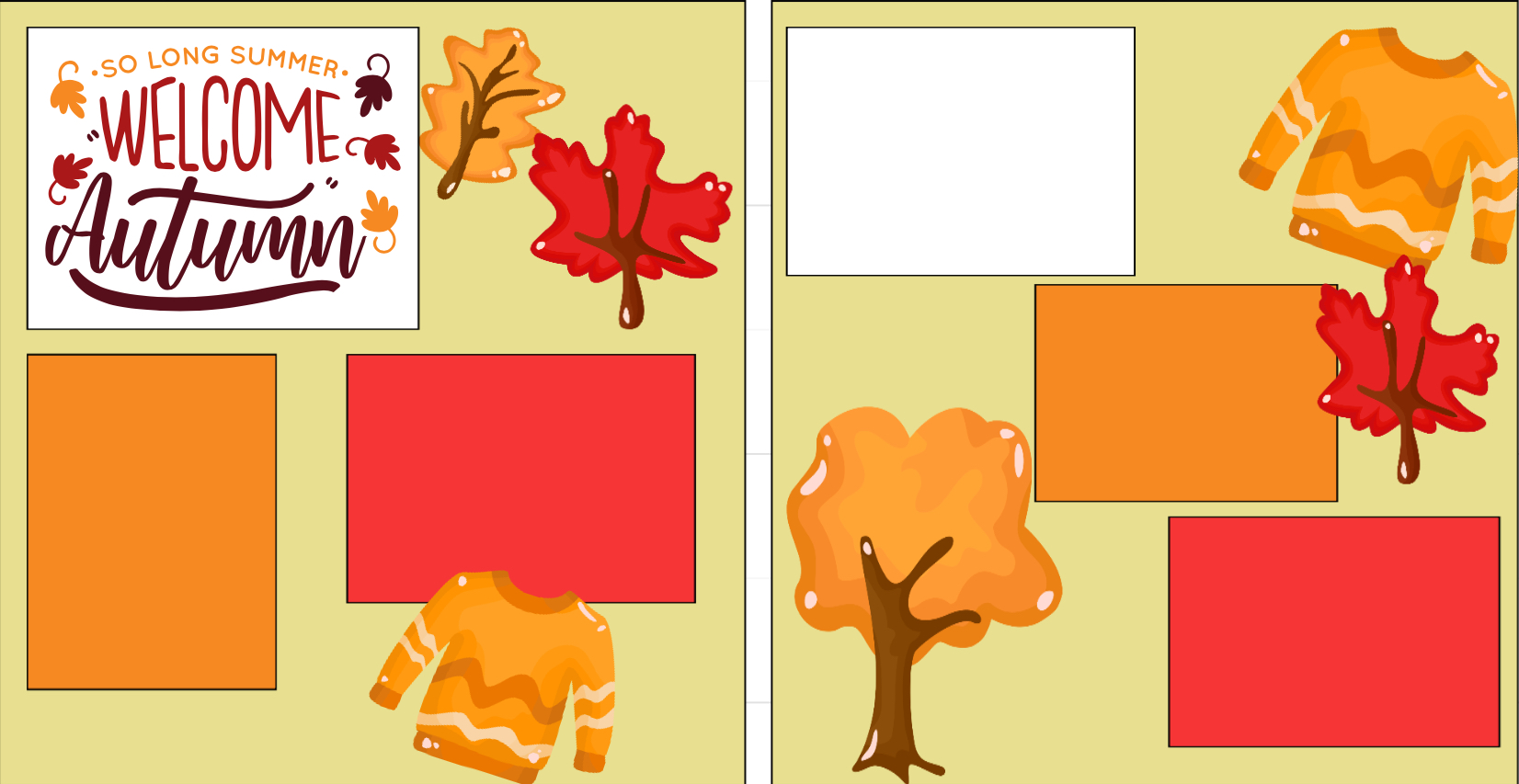 Welcome Autumn-  page kit