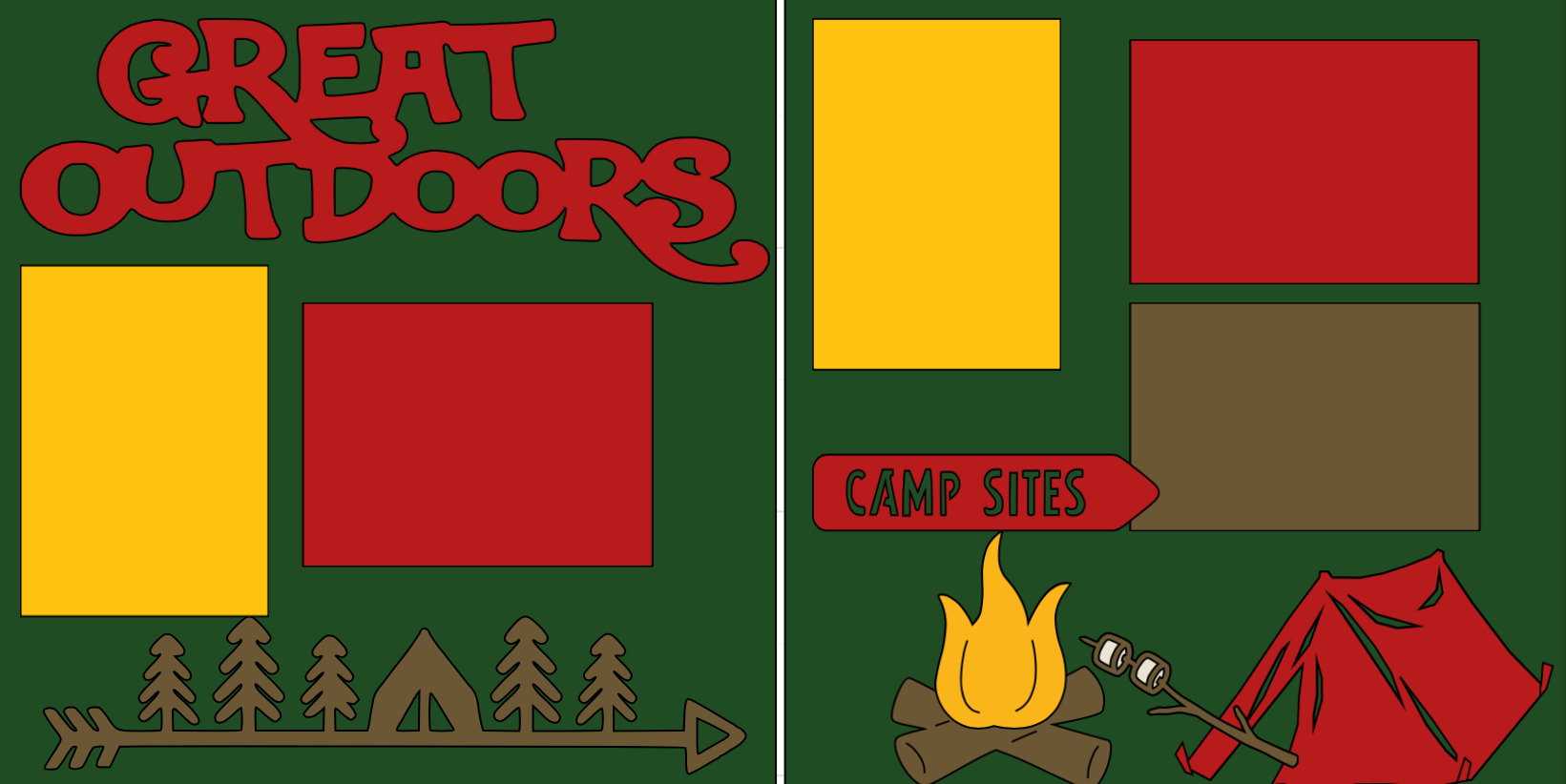 Great Outdoors Camping  page kit