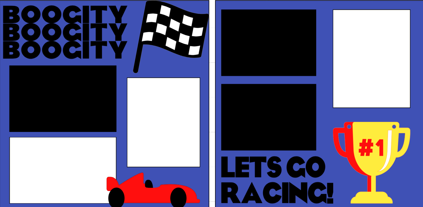 Let's go racing -  page kit