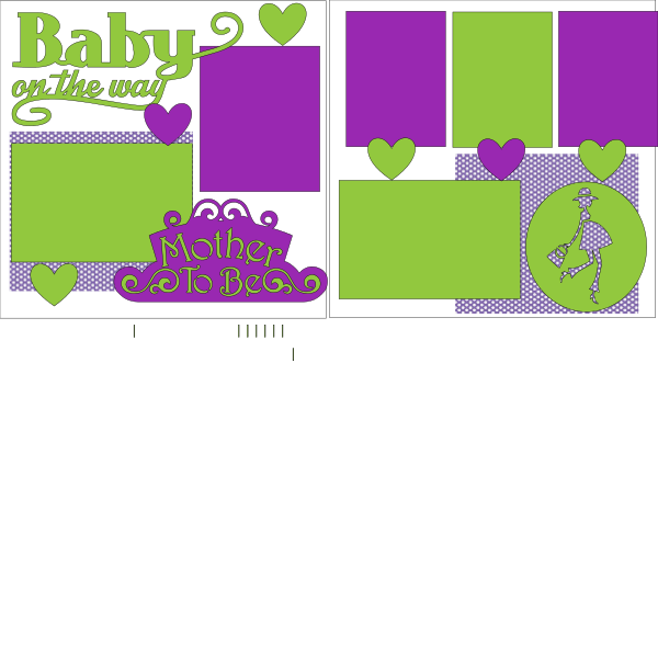 BABY ON THE WAY  ... Page Kit