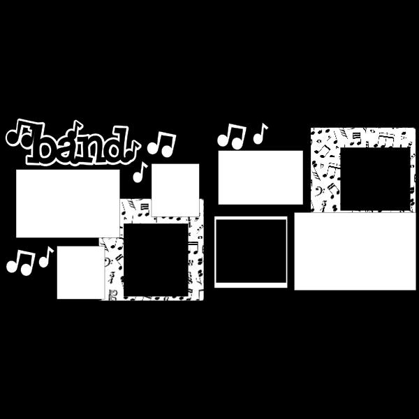 BAND- MARCHING BAND -basic page kit