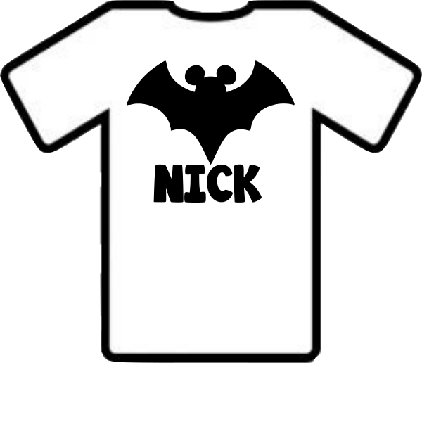 MICKEY PERSONALIZED HALLOWEEN BAT SHIRT