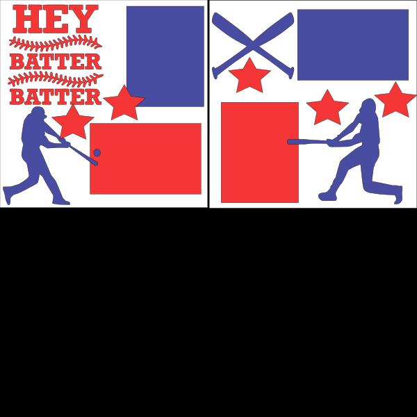 HEY BATTER BATTER BASEBALL   -basic page kit