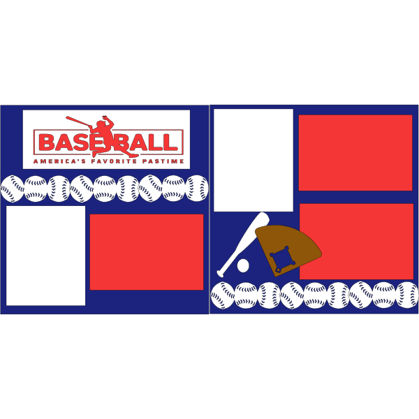 BASEBALL AMERICAS FAVORITE  -basic page kit