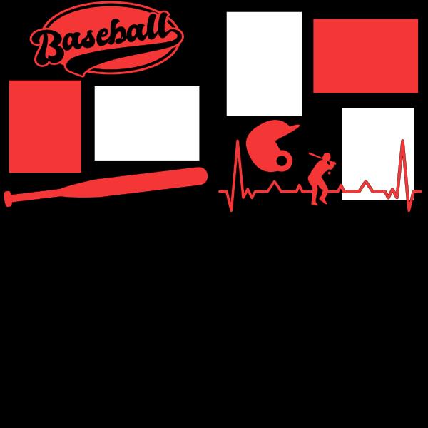 BASEBALL (HEARTBEAT)  -basic page kit