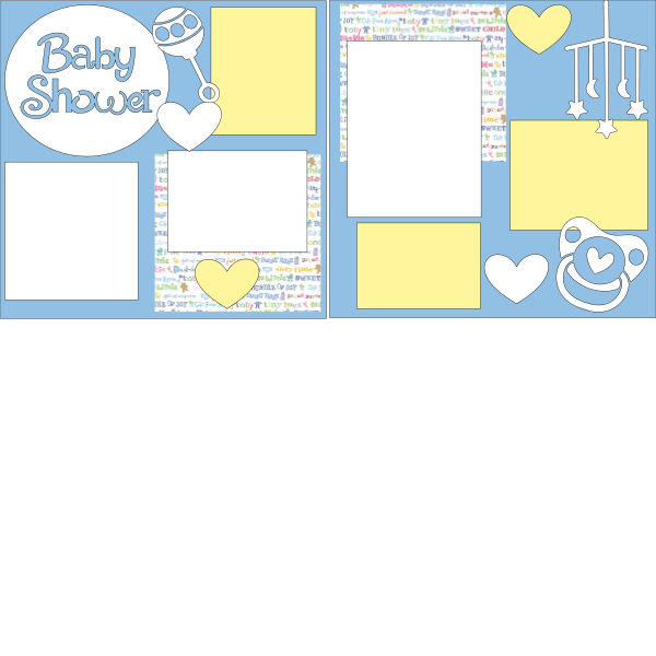 BABY SHOWER BOY page kit