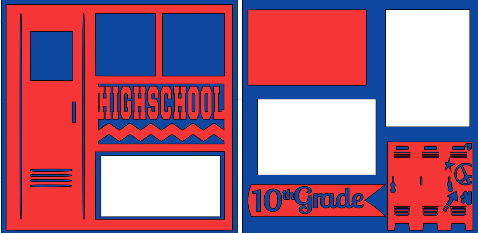High school (Personalized grade)-  page kit