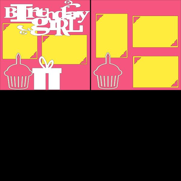 BIRTHDAY GIRL (CUPCAKES)   --   page kit