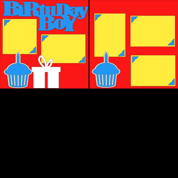 BIRTHDAY BOY (CUPCKS)   --   page kit