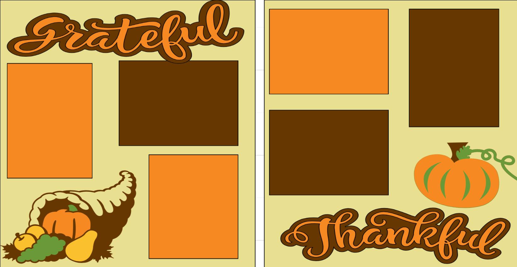 Grateful Thankful-  page kit