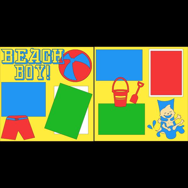 BEACH BOY  -basic page kit