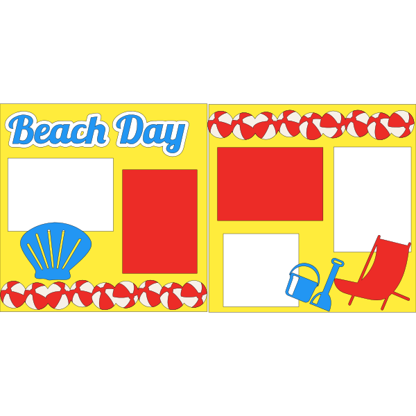 BEACH DAY  - PAGE KIT