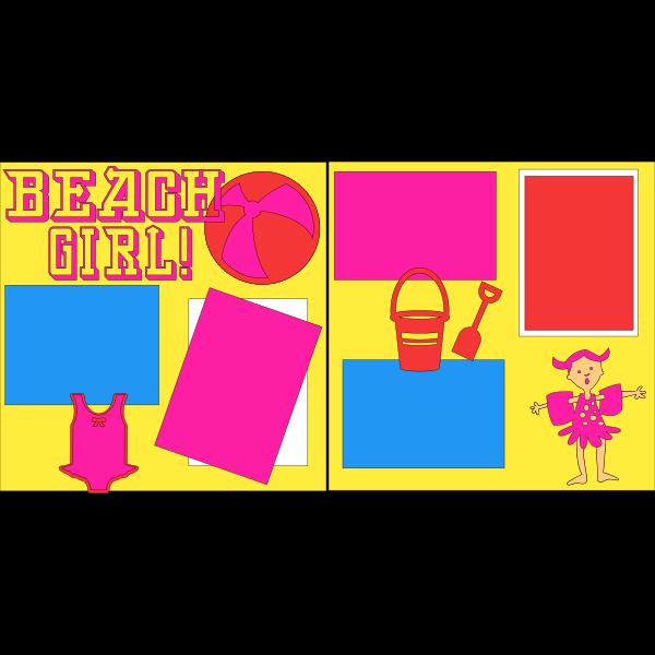BEACH GIRL  -basic page kit