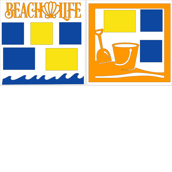 BEACH LIFE (BUCKET)  -basic page kit