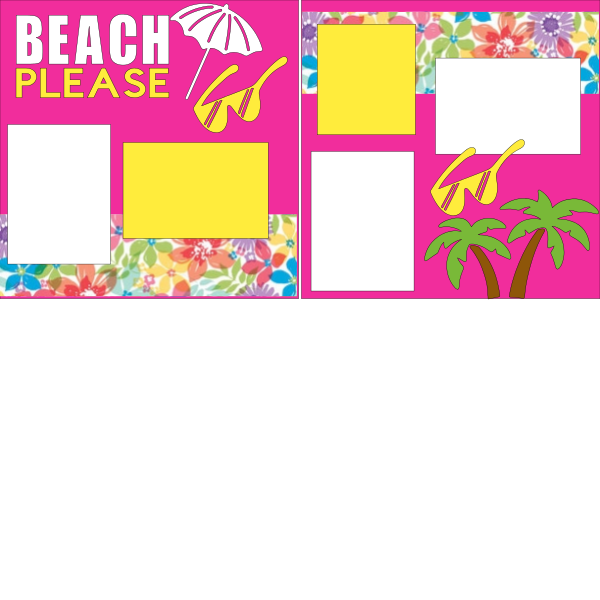 BEACH PLEASE!  -basic page kit