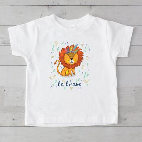 Be Brave Tribal Lion Graphic T-Shirt