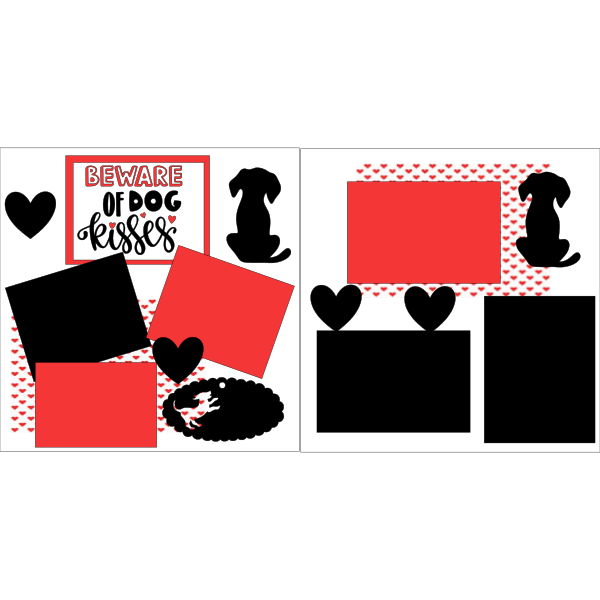 BEWARE OF DOG KISSES  -basic page kit