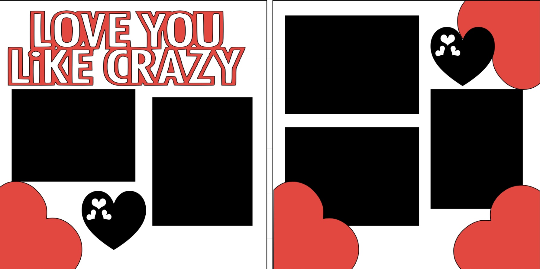 Love you like crazy -  page kit