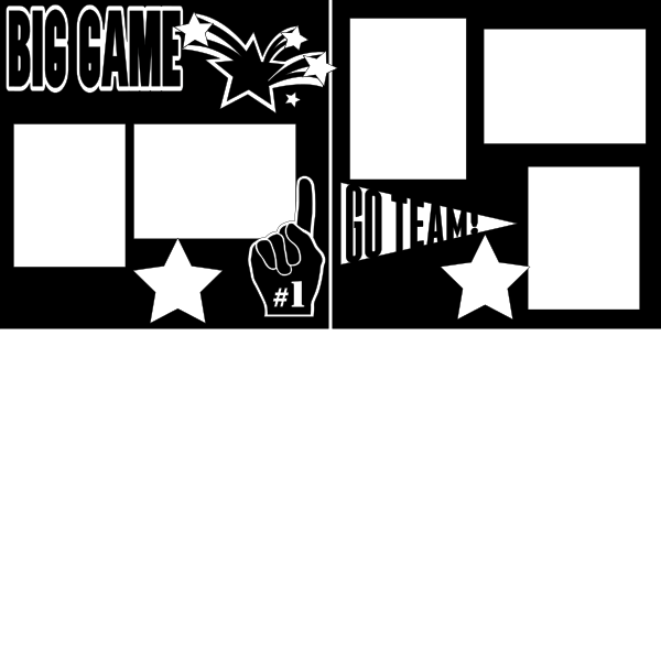 THE BIG GAME (ALL SPORTS)   -basic page kit
